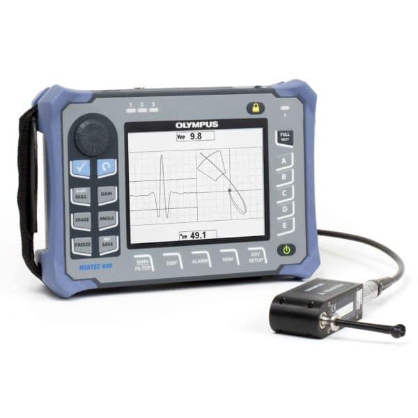 Thiết bị kiểm tra dòng điện xoáy với đầu dò quay NORTEC 600