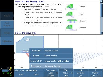 Lên kế hoạch kiểm tra sử dụng compound scan trong setup wizard của phần mềm MXU