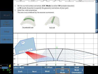 Sử dụng một phần của phần mềm MXU và trình hỏi đáp để xác định phương án kiểm tra ống cong