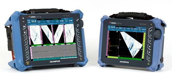 Máy dò khuyết tật OmniScan MX2 (hỗ trợ nhiều nhóm) và máy dò OmniScan SX (đơn nhóm).