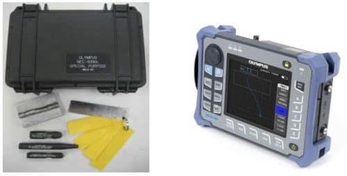 Bộ KIT kiểm tra mối hàn (trái) và NORTEC 600 (phải)
