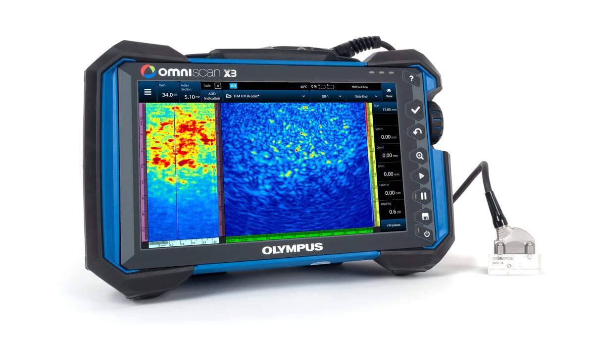 OmniScan X3 với đầu dò TFM HTHA